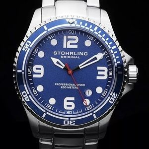 Stuhrling Original Quartz Diver Watch box papers